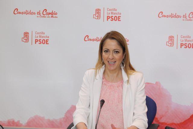 La vicesecretaria y portavoz del PSOE de CLM, Cristina Maestre