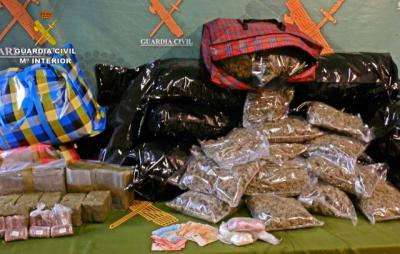Incautados más de 16 kilos de hachís, 117 de marihuana y 737 gramos de cocaína