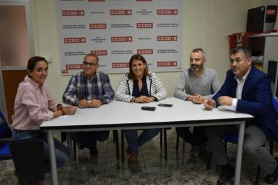 Reunión entre PSOE Talavera y CCOO sobre el tren y políticas de empleo