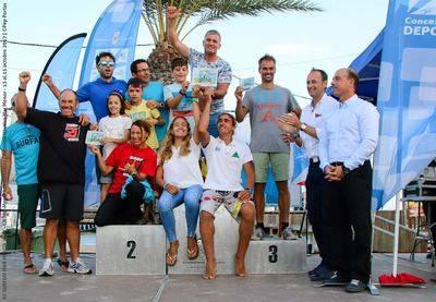 La selección de Windsurf de CLM, subcampeona de España