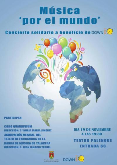 El Palenque acoge el concierto solidario a beneficio de Down Talavera 'Música por el mundo'