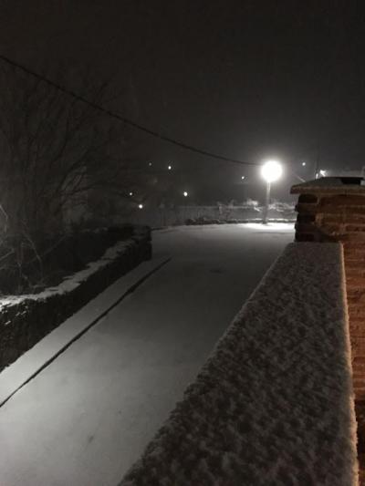 Primera nevada de la temporada en El Real de San Vicente