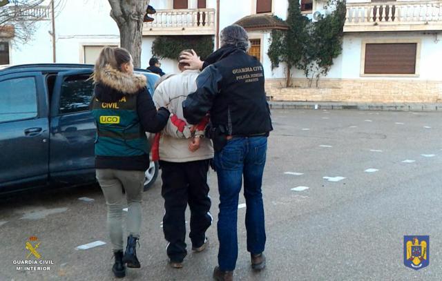Detención de C.M.S, de 34 años, en Madrigueras (Albacete)