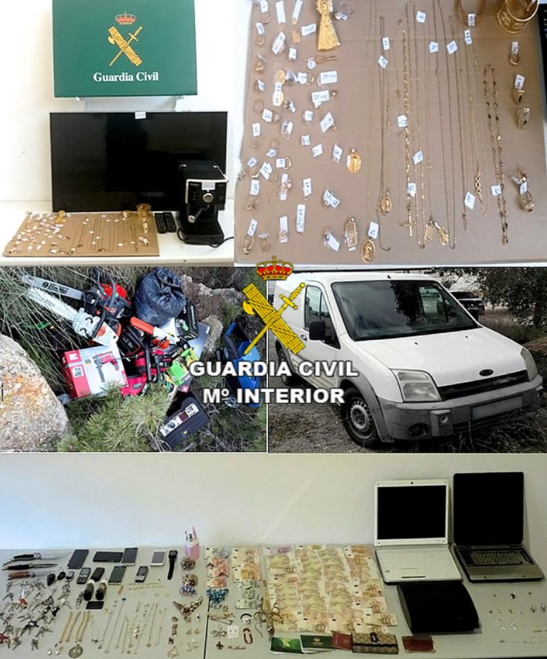 Desarticulan 3 grupos criminales por 81 delitos de robo en for Viviendas en ciudad real