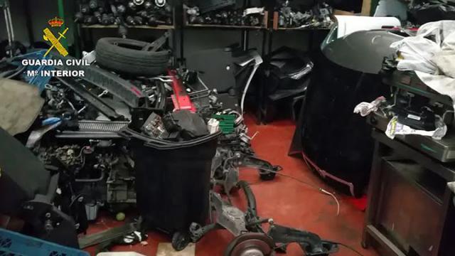 Desarticulado un grupo criminal especializado en el robo y desguace de vehículos