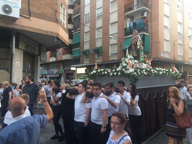 Multitudinaria procesión de la Virgen del Carmen en Talavera