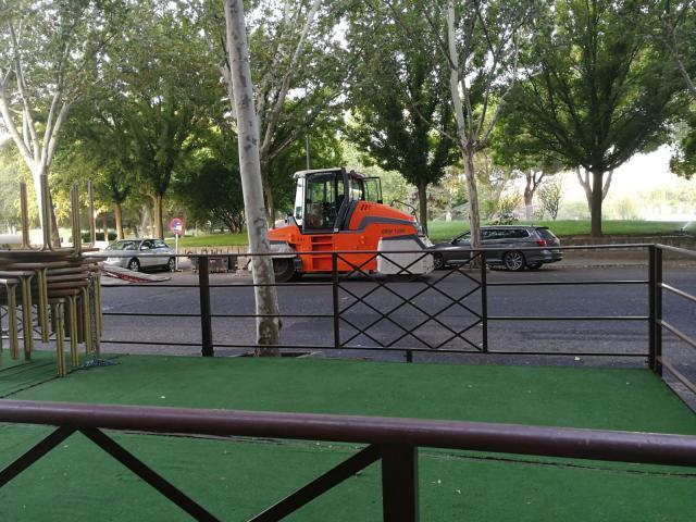 El Ayuntamiento agiliza las obras de pavimentación ante la proximidad de la Vuelta Ciclista