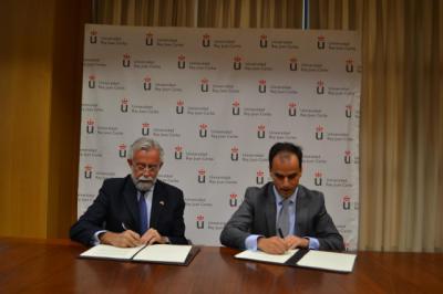 Firma del acuerdo entre el Ayuntamiento y la URJC