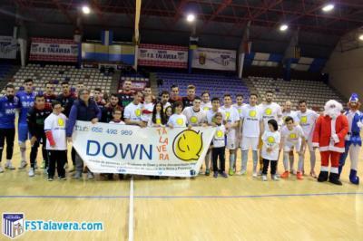 Down Talavera fue el invitado por el Soliss FS Talavera en la iniciativa del 'Jugador Número Seis'