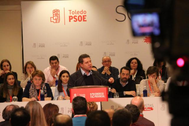 El secretario regional del PSOE y presidente de Castilla-La Mancha, Emiliano García-Page