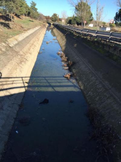 Canal del río Alberche a su paso por Talavera