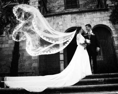 Nazaret Martín y Jorge Salas celebran su boda en el Parador de Oropesa