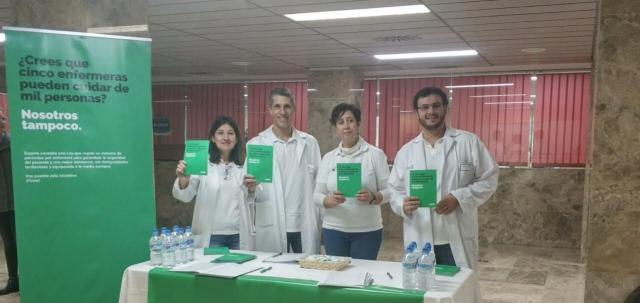 Recogida de firmas en el Hospital deTalavera