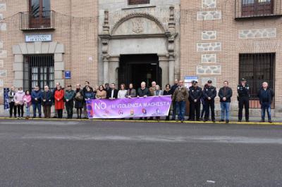 Minuto de silencio en Talavera por las 5 mujeres víctimas mortales de violencia de género en diciembre