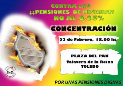 Tendrá lugar el jueves a las 6 de la tarde en la Plaza del Pan Talavera de la Reina, 21 de febrero de 2018
