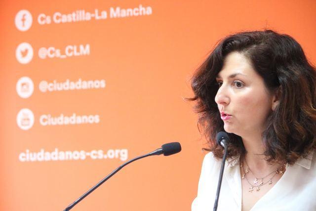 La portavoz de la formación naranja en CLM, Orlena De Miguel