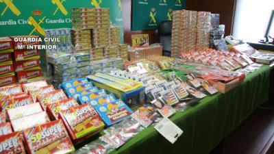 Intervenidas 65.040 unidades de material pirotécnico en comercios de Toledo por no cumplir la normativa