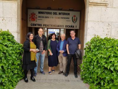 De izda. a dcha. La directora de Ocaña 1, Milagros González Jiménez, Javier Hernández, Lara López, Enrique Martínez de la Casa y Jose Angel Esteban.