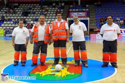 Cruz Roja fue el invitado del Soliss FS Talavera en la iniciativa del 'Jugador Número Seis'