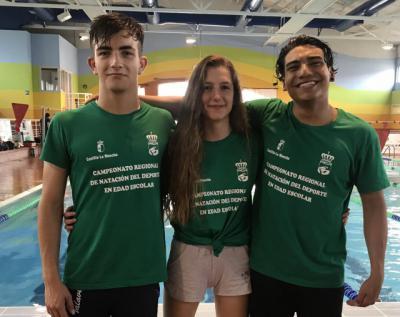 Los nadadores del CN Talavera logran seis metales en el regional Somos Deporte 3-16