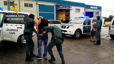La Guardia Civil desarticula una banda que robó 120 coches para vender sus piezas en Polonia