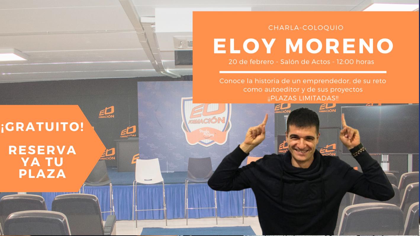 El autor Eloy Moreno visitará Ébora Formación con una conferencia abierta al público