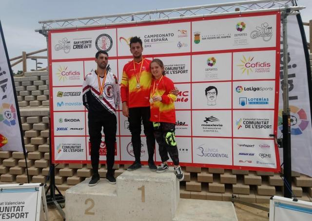 Zaira Vargas y Alejandro Alcojor, campeones de España BMX