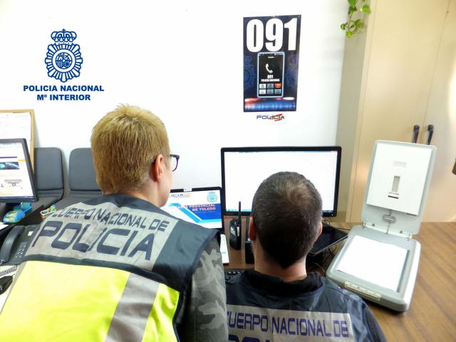 Tres detenidos por realizar estafas telefónicas a carnicerías y pescaderías de Toledo
