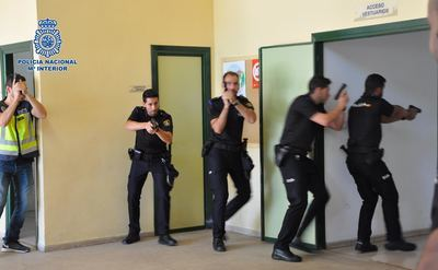 Simulacro policial de un un cidente 'Amok' en Puertollano