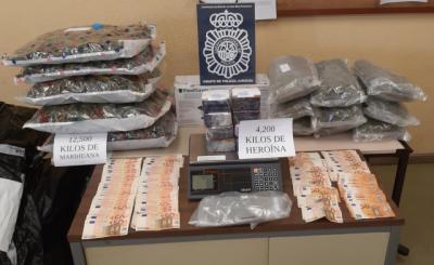Desarticulada una banda criminal que vendía heroína y cultivaba marihuana en en la provincia de Toledo