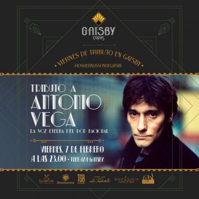 Tributo a Antonio Vega este viernes en Terraza Gatsby