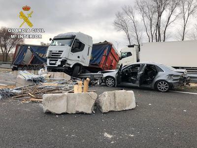Un camionero provoca un accidente al conducir con una tasa de alcohol 8 veces superior a la permitida