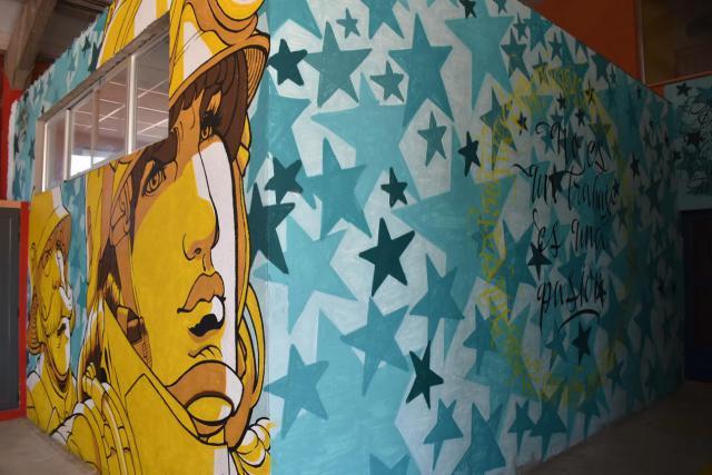 Los espectaculares grafitis artísticos del Parque de Bomberos de Talavera