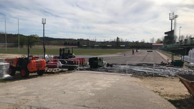 TALAVERA | Se retoman las obras de la pista municipal de atletismo