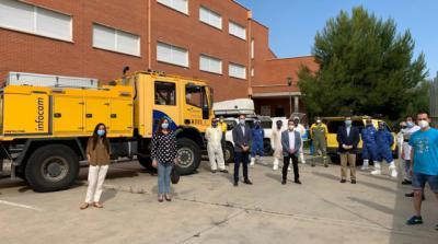 COVID-19 | Limpieza y desinfección preventiva de 53 institutos de la provincia de Toledo