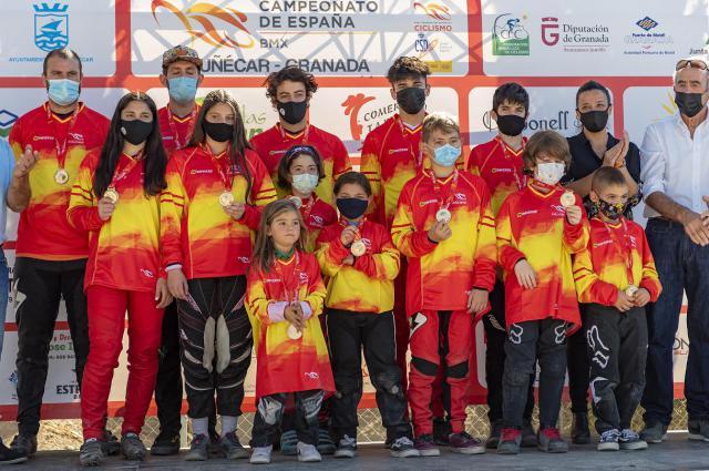 BMX | Talavera logra 5 oros, 1 plata y 3 bronces en el Campeonato de España