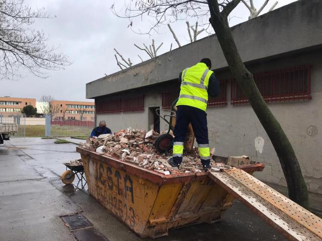 TALAVERA | Obras en los almacenes anexos al Polideportivo de Patrocinio