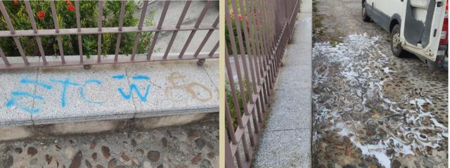 Talavera continúa la limpieza de pintadas en el Casco Antiguo