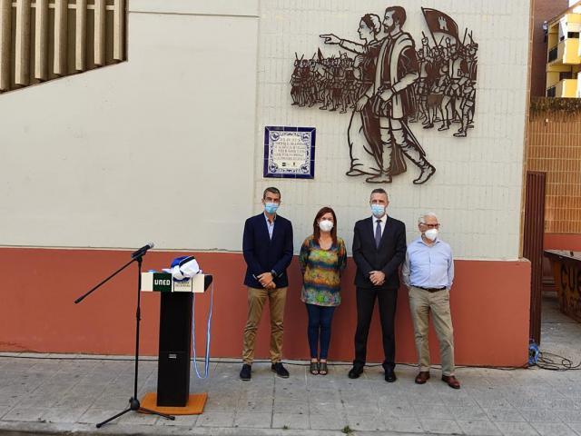 Una placa de cerámica y un mural para homenajear a Comuneros de Castilla