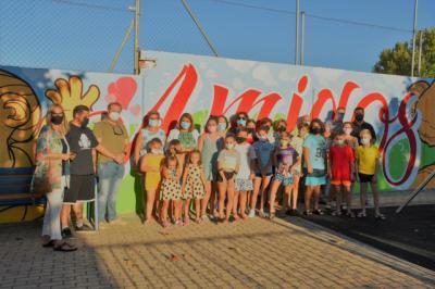 Un mural en el barrio de Santa María dedicado la infancia y a la juventud