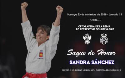 Sandra Sánchez realizará el saque de honor en el partido del Talavera