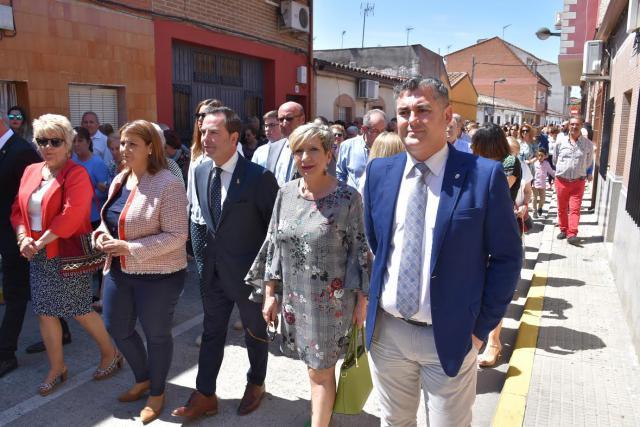 Tita García Élez, en la procesión del pasado año