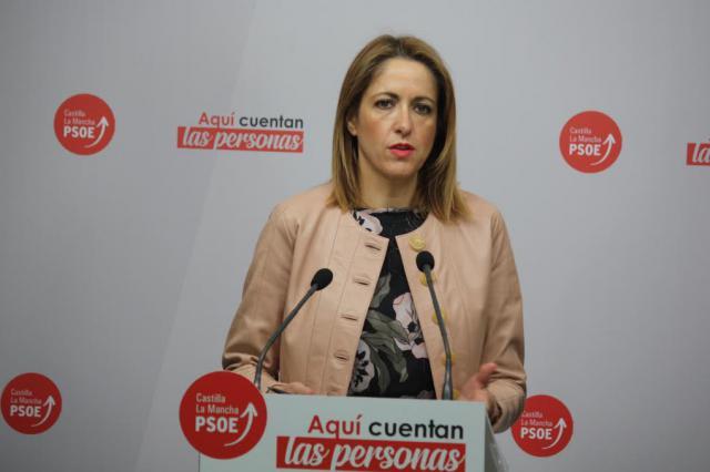 La vicesecretaria y portavoz del PSOE CLM y candidata al Parlamento Europeo, Cristina Maestre