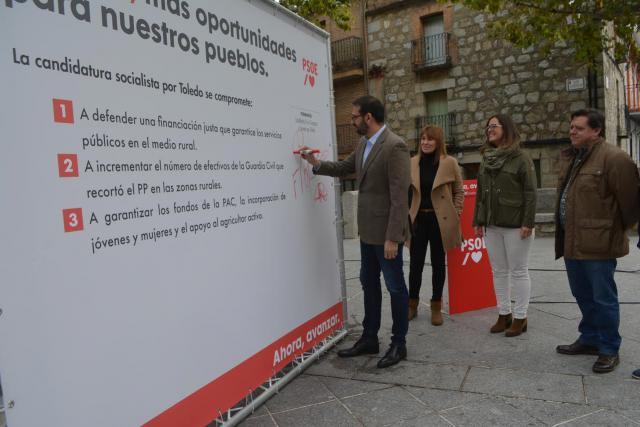 El PSOE se compromete a defender 'más oportunidades para nuestros pueblos'
