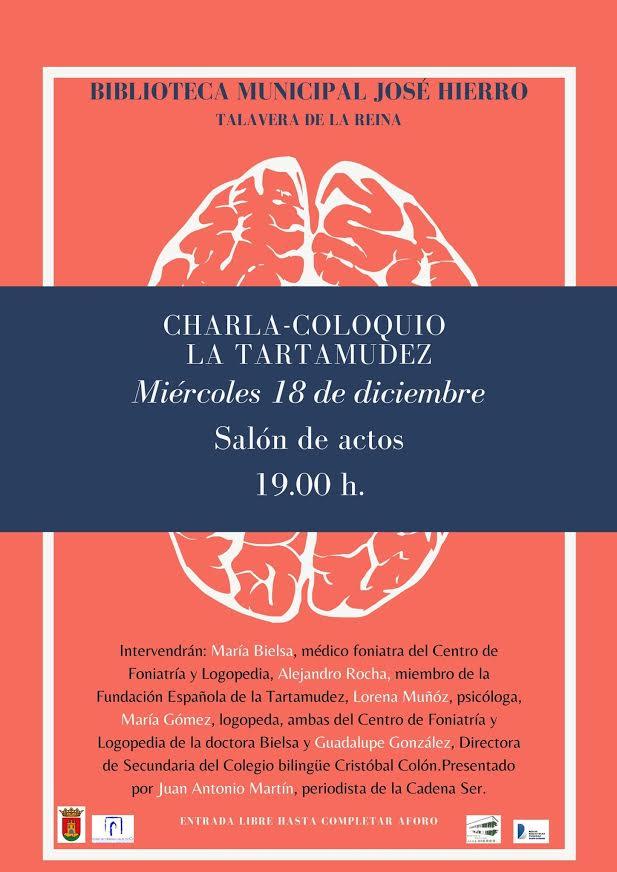 Charla-coloquio sobre la tartamudez, en la Bibioteca José Hierro