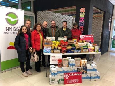 NNGG Talavera de la Reina entrega 1700 kg de alimentos a Cáritas