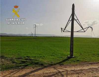 INCREÍBLE | Roban el cobre de 63 torres de alta tensión de pueblos de Toledo: ¡18 kilómetros de cable!