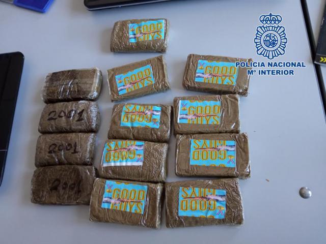 Detenido en Talavera con 1,3 kilos de hachís que ocultaba en su taquilla