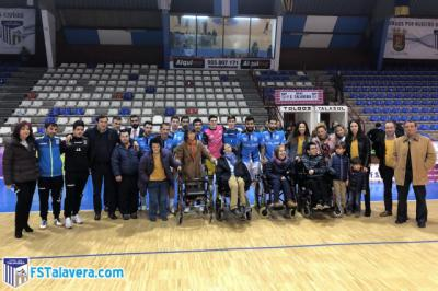 APACE acompañó al Soliss FS Talavera en la iniciativa 'El Jugador Número Seis'