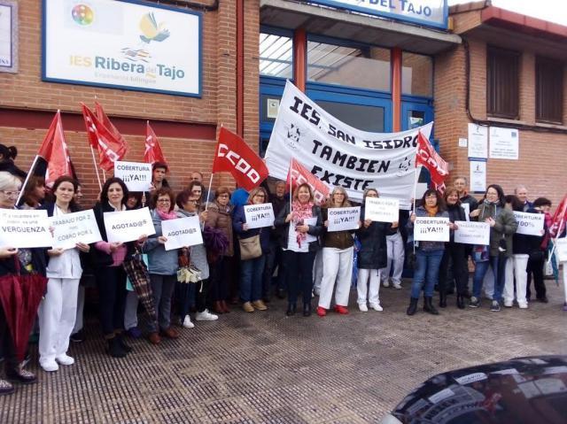 El personal laboral de educación de Talavera y comarca exige la cobertura de bajas